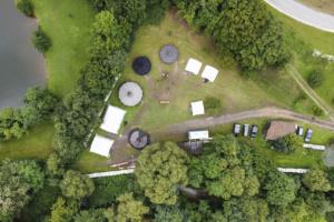 Luftaufnahme des Lagerplatzes